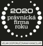 Právnická firma roku 2020 - Velmi doporučovaná kancelář
